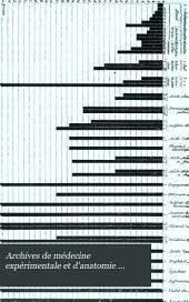 Archives de médecine expérimentale et d'anatomie pathologique: Volume2