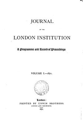 Journal of the London Institution PDF
