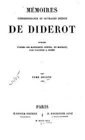 Mémoires, correspondance et ouvrages inédits de Diderot: Volume2