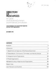 Directory of Resources for Cultural and Educational Exchanges and International Communication PDF