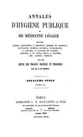 Annales d'hygiène publique et de médecine légale: Volume40;Volume1873