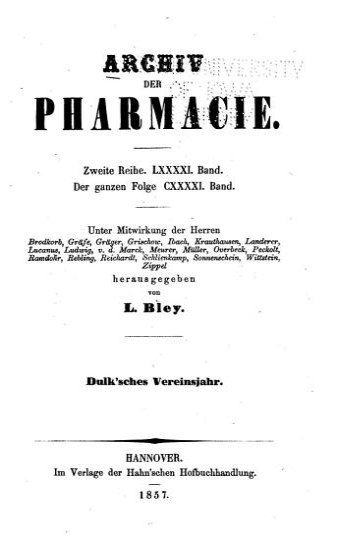 Archiv der Pharmazie PDF