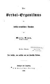 Der Verbal-Organismus der indisch-europäischen Sprachen