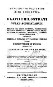 Flavii Philostrati Vitae Sophistarum