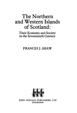 The Northern and Western Islands of Scotland