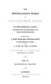 The Complete Works of Venerable Bede: Historical tracts