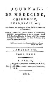 Journal de médecine, chirurgie, pharmacie, etc: Volume 23