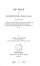 On peat as a substitute for coal