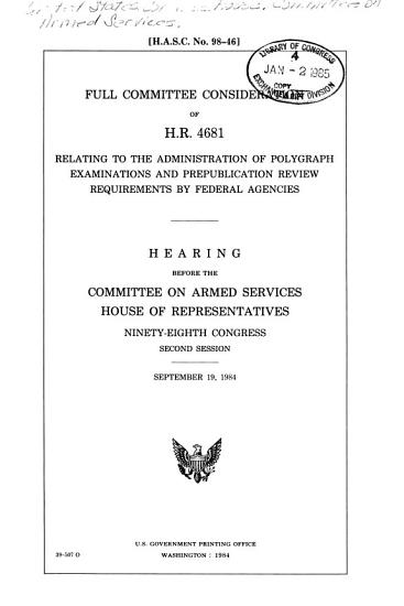 Full Committee Consideration of H R  4681     PDF