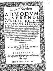 In diem Natalem Admodum Reverendi ... D. Martini Eisengrein ...