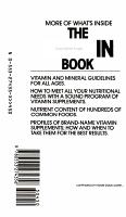 The Vitamin Book PDF