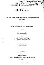 Friedrich Ludwig Stamm's ulfilas