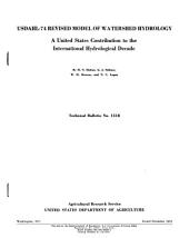 USDAHL-74 revised model of watershed hydrology: a United States contribution to the international hydrological decade