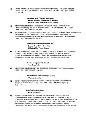 Informal Listing of Bibliographies of Atomic Energy Literature PDF