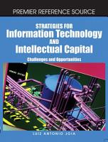 Strategies for Information Technology and Intellectual Capital  Challenges and Opportunities PDF