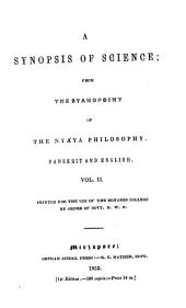 A Synopsis of Science, from the Standpoint of the Nyaya Philosophy: Sanskrit and English, Volume 2