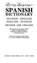 Living Language Spanish Dictionary Book