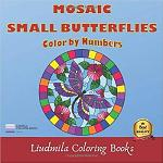 Mosaic Small Butterflies Color by Numbers