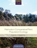 Methods in Comparative Plant Population Ecology PDF