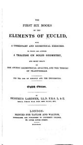 First six books of the Elements (of Euclides)
