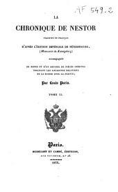 La chronique de Nestor: d'après l'édition impériale de St Pétersbourg