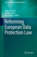 Reforming European Data Protection Law PDF