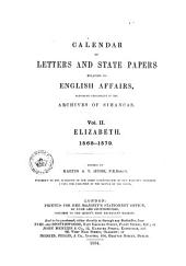 Calendar of Letters and State Papers Relating to English Affairs: 1568-1579