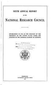 Annual Report of the National Research Council