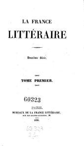La France litteraire: Volume27