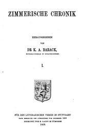 Zimmerische Chronik: Band 91