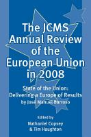 The JCMS Annual Review of the European Union in 2008 PDF