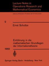 Einführung in die mathematischen Grundlagen der Informationstheorie