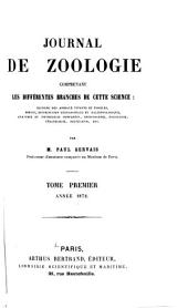 Journal de zoologie: Volume 1