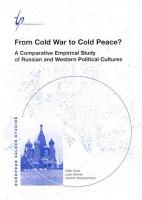 From Cold War to Cold Peace  PDF