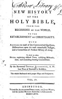 A New History of the Holy Bible PDF