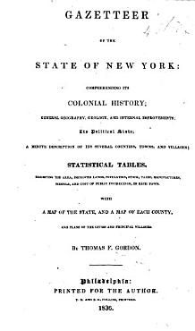 Gazetteer of the State of New York  comprehending its colonial history      its political state  statistical tables      a map  etc PDF