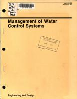 Management of Water Control Systems PDF