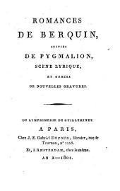 Romances, suivies de Pygmalion, scène lyrique, et ornées de nouvelles gravures