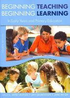 Beginning Teaching  Beginning Learning  In Early Years And Primary Education PDF