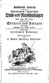 Ausführliche Nachricht von den Churfürstlich Sächsischen Land- und Ausschußtägen von 1185 - 1787