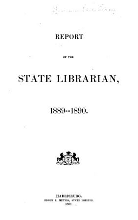 Report of the State Librarian to the Legislature of Pennsylvania PDF