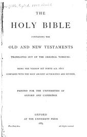 The Holy Bible, Containing the Old and New Testaments: Volume 2