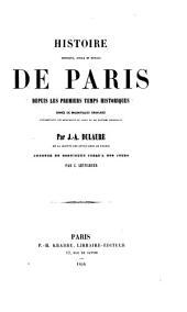 Histoire physique: civile et morale de Paris, depuis les premiers temps historiques, Volume4