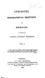 Anecdotes, Biographical Sketches and Memoirs