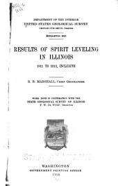 Results of Spirit Leveling in Illinois, 1911 to 1913, Inclusive: Issues 551-554
