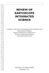 Review of EarthScope Integrated Science