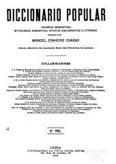 Diccionario popular: historico, geographico, mythologico, biographico, artistico, bibliographico e litterario, Volumes 11-12