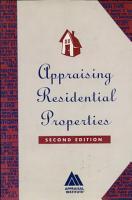 Appraising Residential Properties PDF