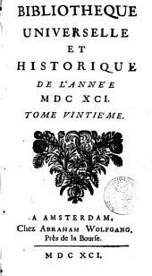 Bibliothèque universelle et historique: Volume20