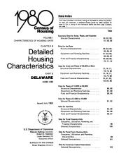 1980 Census of Housing: Characteristics of housing units. Detailed housing characteristics. Delaware, Volume 1